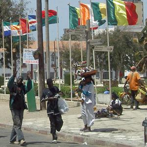 central square, Dakar