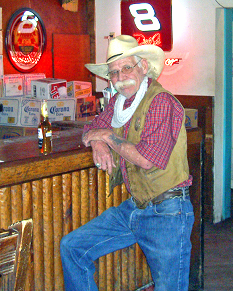 cowboy at the Mine Shaft Tavern, Madrid, New Mexico