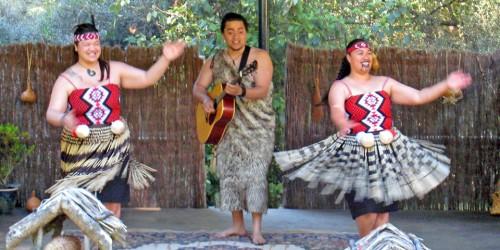 Enjoy a Maori Cultural Show like this one at the Kiwi Birdlife Park.