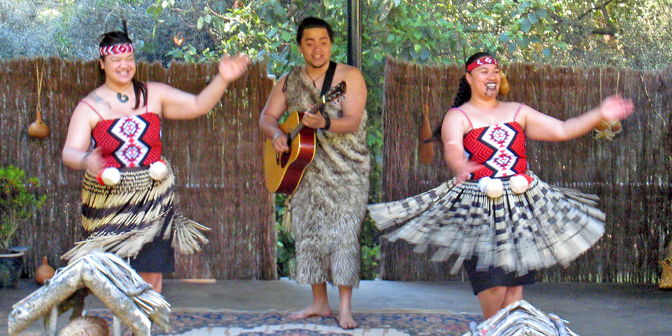 Enjoy a Maori Cultural Show like this one at the Kiwi Birdlife Park.