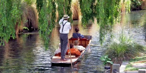 Punting on the Avon, hristchurch, New Zealand