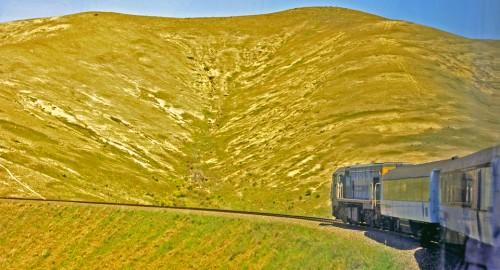 Wellington to Christchurch train, New Zealand