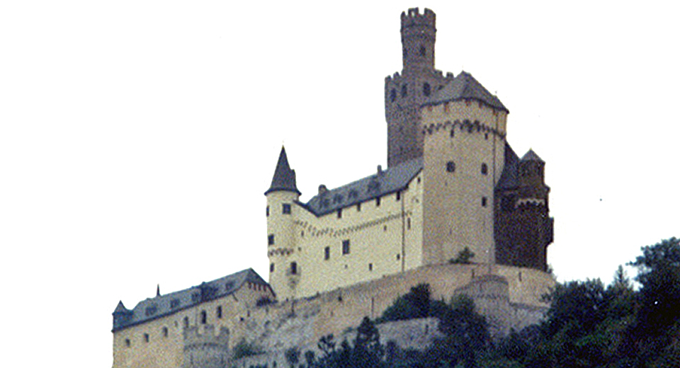 castle along the Rhine River