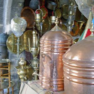 Habous Quarter metalware, Casablanca