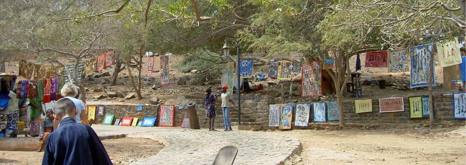 art sale and exhibit, Île de Gorée, Dakar, Senegal