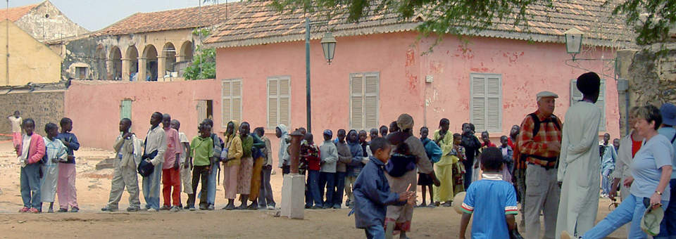 schoolchildren, Île de Gorée, Dakar, Senegal