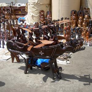 wood carvings, Dakar