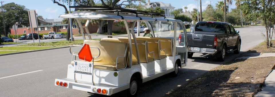 Galveston Island Tours shuttle