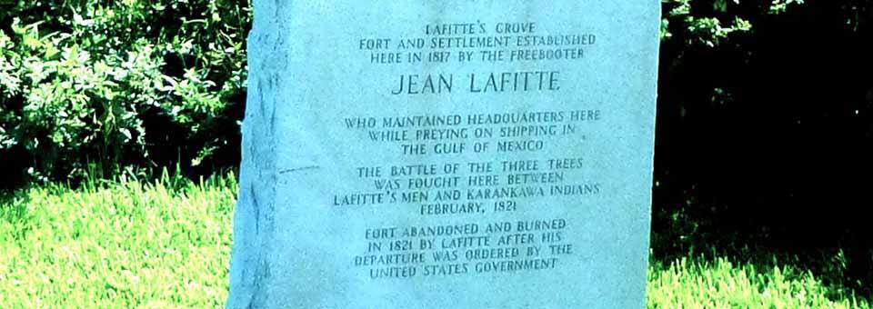 Jean Lafitte marker, Galveston, Texas