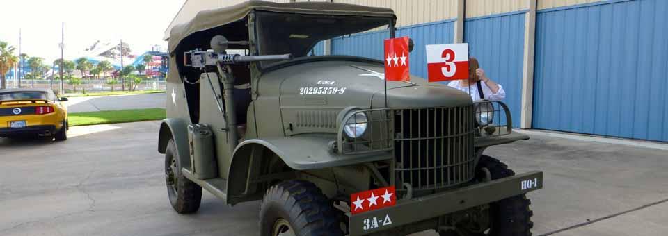 General Patton's jeep, Lone Star Flight Museum, Galveston, Texas