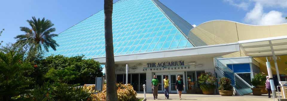 Aquarium Pyramid at Moody gardens, Galveston, Texas