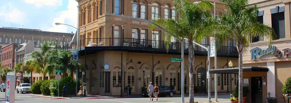Moody Street, downtown Galveston, Texas