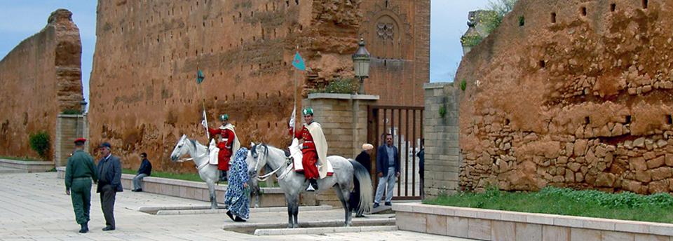 Entrance to Mausoleum of King Mohammed V, Rabat, Morocco