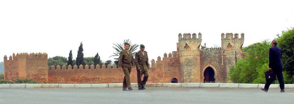 Outside the walls of the Royal Palace, Rabat