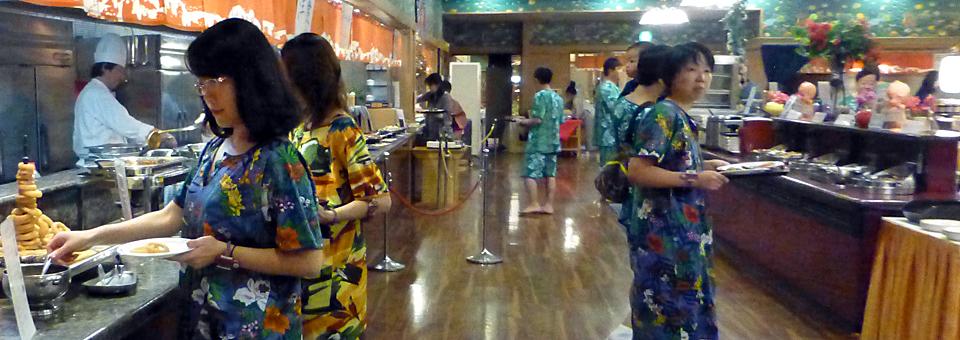 Ryugujo Spa Hotel Mikazuki buffet