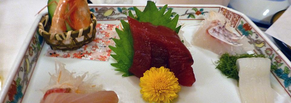 Ryugujo Spa Hotel Mikazuki sashimi