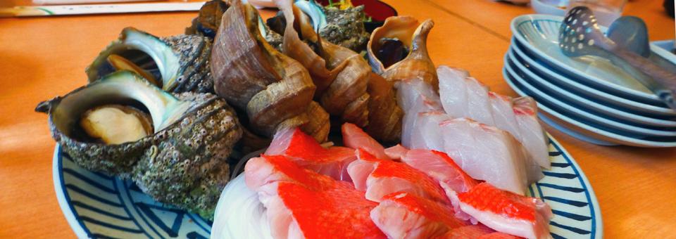 lunch at Banya in the fishing village Awa-gun