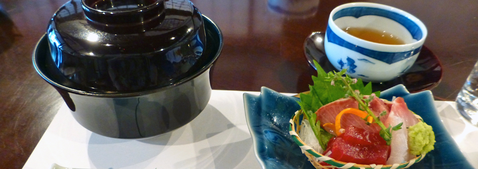 sashimi at Kikuya on Omotesando Road