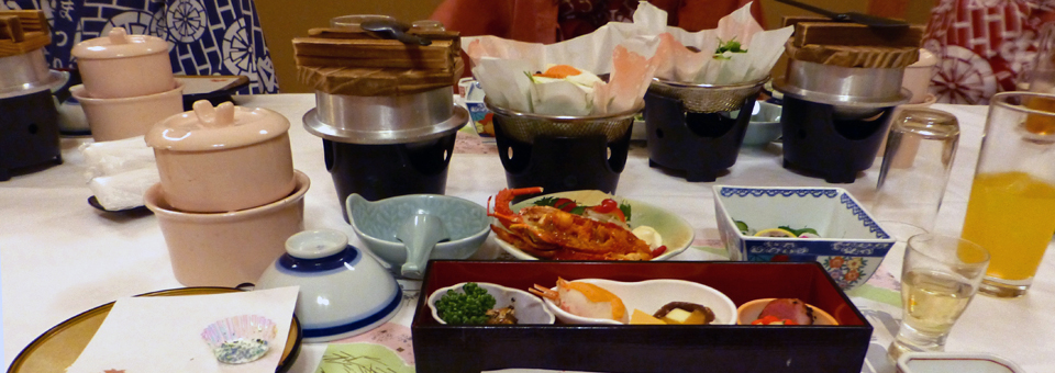 Ryugujo Spa Hotel Keiseki style dinner
