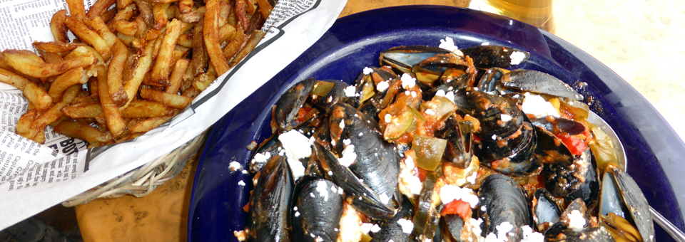 Chelsea Pub moules et frites (mussels and fries)