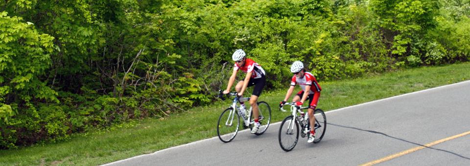 Gatineau Park cyclists