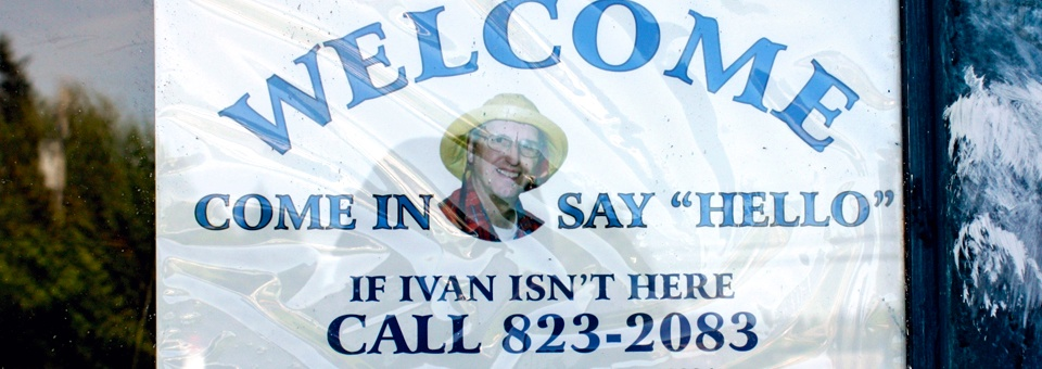 Ivan's welcome sign