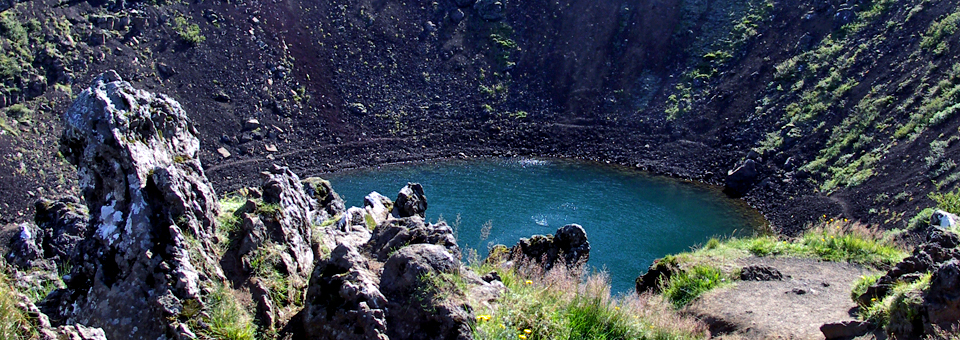 volcanic crater, Kerid