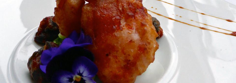 lobster tempura at the Wakefield Mill Inn & Spa