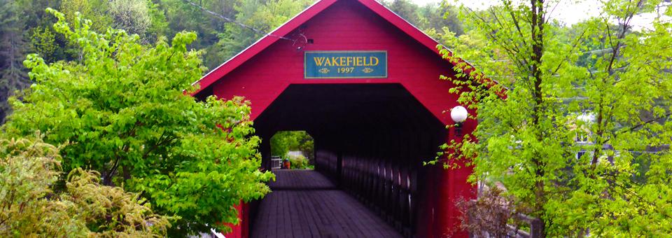 covered bridge, Wakefield