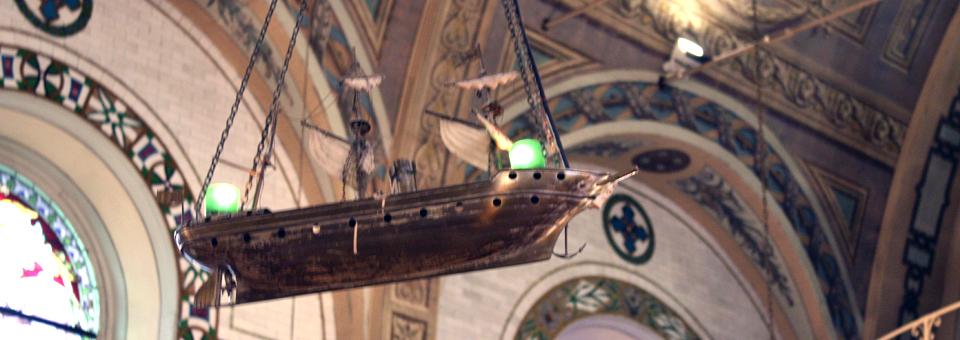 """Notre-Dame-de-Bon-Secours, known as """"Sailors' Church"""
