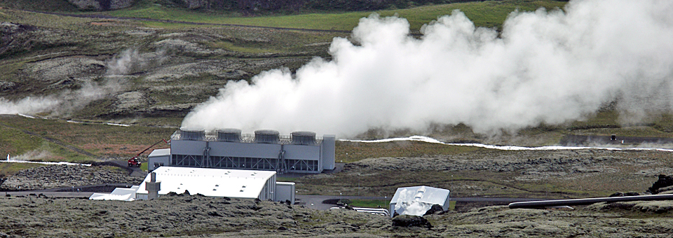 geothermal energy plant , Iceland