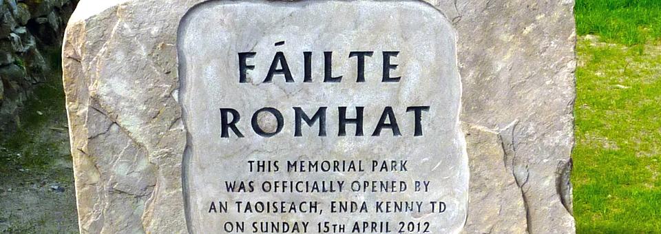 Addergoole memorial park marker