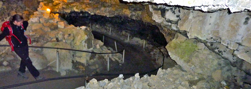 pehistoric cave en route to Gasthaus Äescher