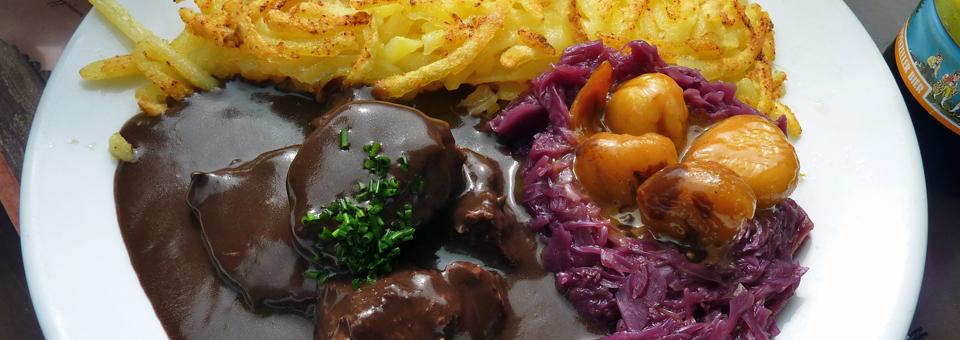 venison luncheon, Gasthaus Aescher