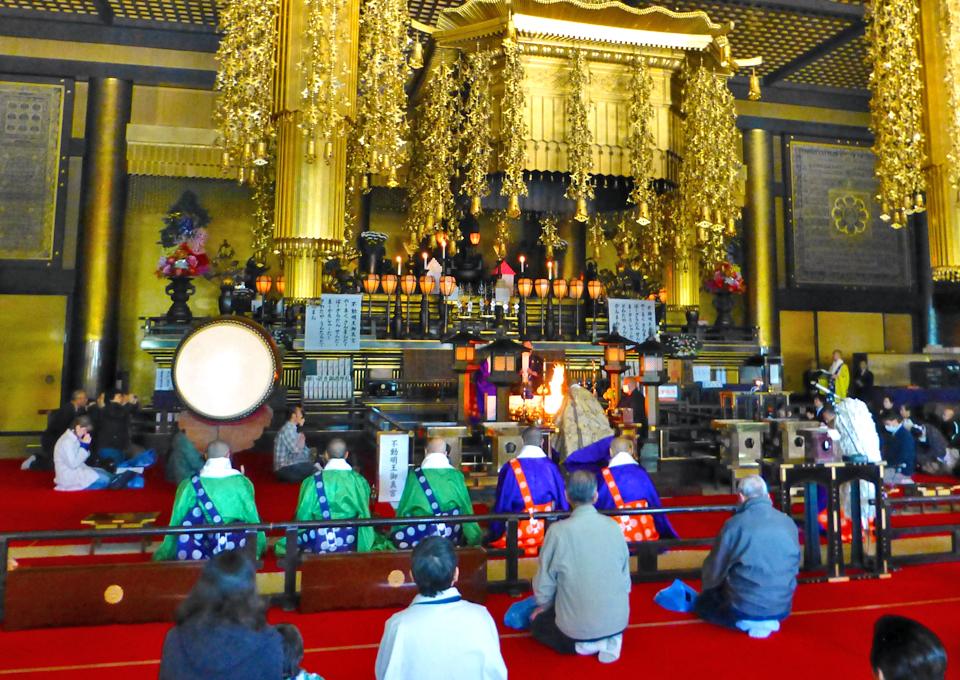 Buddhist ceremony, Narita-san Shinshō-ji Temple, Chiba