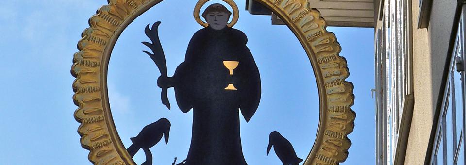 St. Meinrad and raven sign, Einseideln