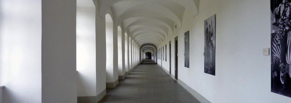 corridor of school at the Benedictine Monastery Einseideln