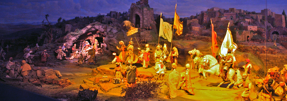 Diorama Bethlehem, Einseideln