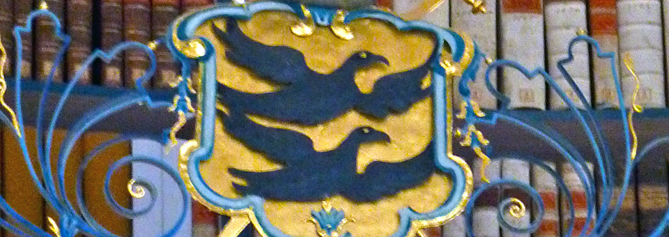 two raven design in the library of Einseideln monastery