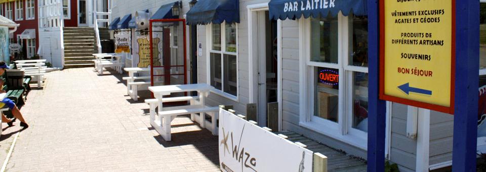 Percé shops, Gaspé Peninsula
