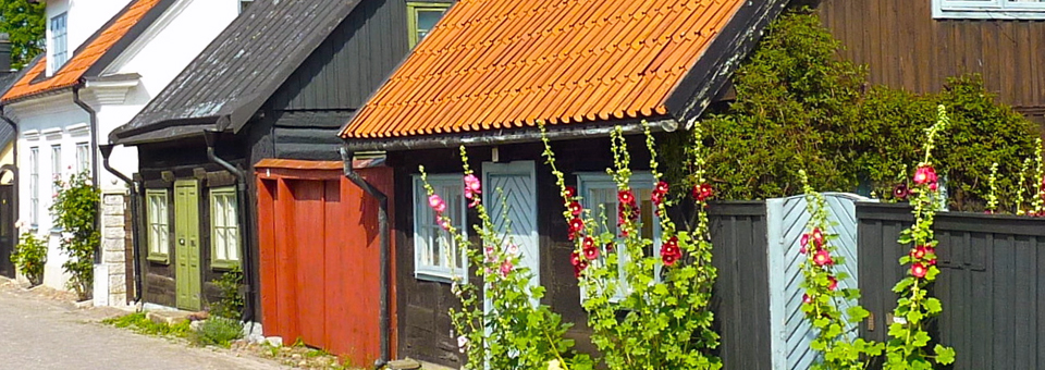charming houses in Visby, Gotland