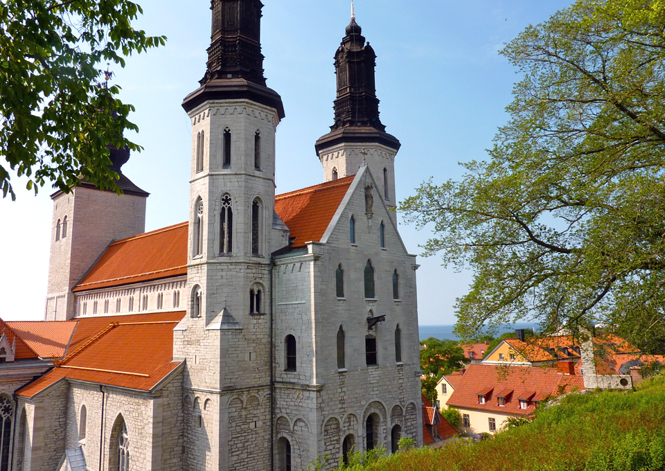 Visby Cathedral, now known as St. Mary's Church
