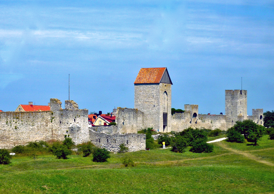 medieval walls of Visby, Gotland
