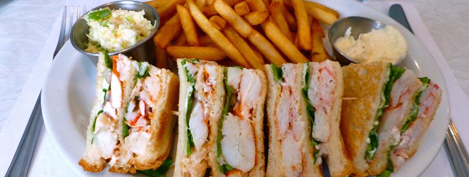 crab and lobster club sandwich, Magdalen Islands
