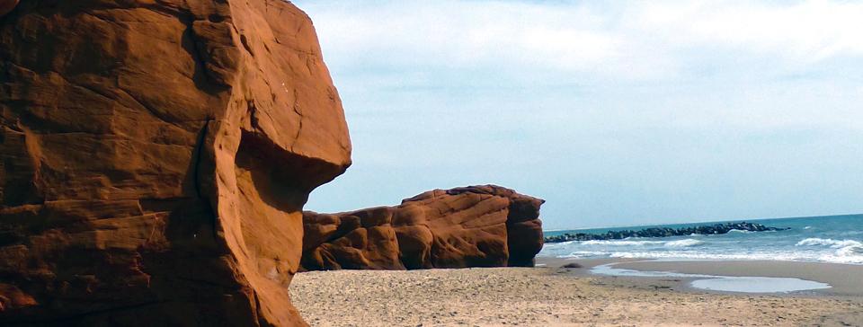 sandstone shoreline of Magdalen Islands
