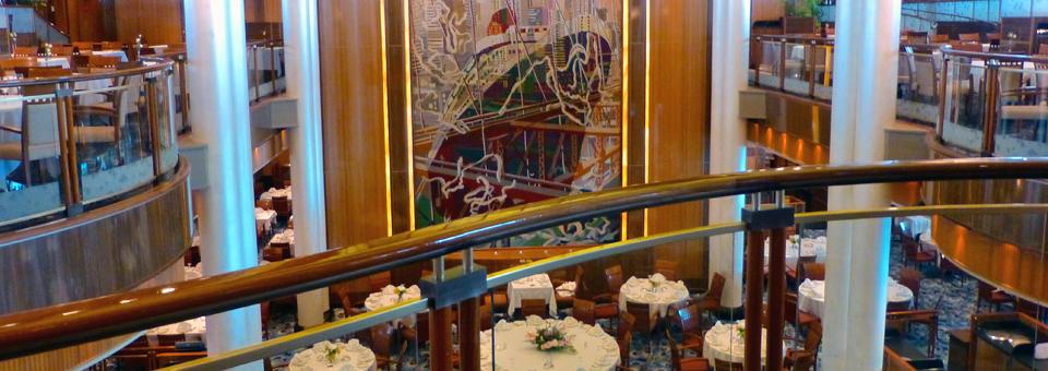 The Queen Mary 2's Britannia Dining Room