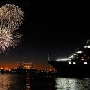 A Royal Rendezvous of Cunard's Queen Mary and Queen Elizabeth cruise ships