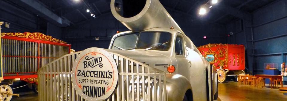 Zacchini's Cannon, The Circus Museum, Sarasota, Florida