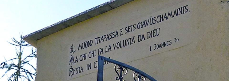 Romansch verse, Scuol, Switzerland