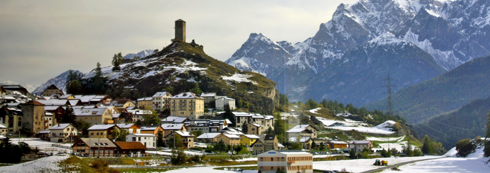 a view from the train en route to Scuol